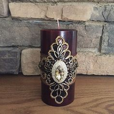 Luxury-Pillar-Candle-Swarovski-Crystals-Home-Decor-Cranberry-Candle-4x6