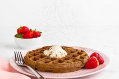 For when you want to sweeten things up for breakfast and dig into the most deliciously healthy chocolate waffles… this recipe is for you! :)  Ingredients (makes 4 waffles): 30g coconut flour 3 tbsp cacao powder ¼ tsp baking powder ¼ tsp sea salt 3 large eggs 60ml low-fat milk 2 tbsp coconut oil, melted 3 tbsp pure maple syrup fresh mixed berries, to serve Coconut Yoghurt 200g low-fat plain yoghurt 25g desiccated coconut ¼ tsp vanilla essence 1 tsp pure maple syrup Method: 1. To make th...