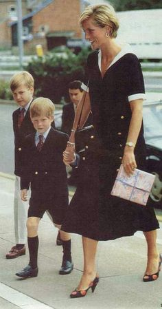 Your mother's hand will lead you down the right path?: Diana, William and Harry