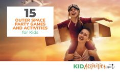 15 Outer Space Party Games and Activities for Kids - Kid Activities A collection of 15 fun outer space party games and activities for kids. Great for your little astronaut's special day or a classroom space themed day! Space Games For Kids, Activities For Kids, Star Citizen, Fun Games, Party Games, Outer Space Party, Space Facts, Space Illustration, Space Toys