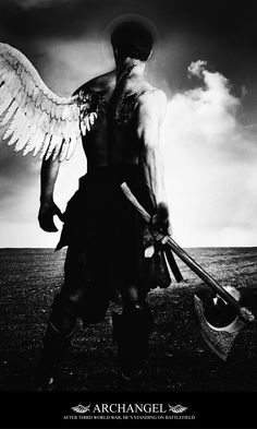 fallen angels... fallen... broken, ready for war... walking among us.