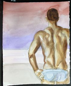 Some guys just have a but you can't forget watercolor by kmencher, $48.00