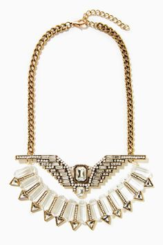this would be awesome with a graphic tee or tank - Crystal Sky Necklace