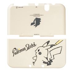 Pokemon Center Original New Nintendo 3DS LL XL Hard Cover Pikachu Sketch Japan #Nintendo