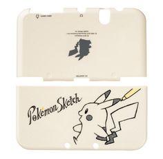 Pokemon Center Original New Nintendo 3DS LL XL Hard Cover Pikachu Sketch Japan #Nintendo