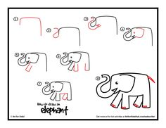 Download how to draw an elephant printable