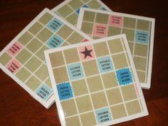Scrabble Board Tile Coasters...Set of 4...Vintage by floridalisa, $12.00