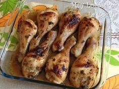 Twittear      Esta es una receta de pollo que se marina en una mezcla de leche de coco, lima y especias y después se horne...