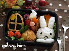 Carinissimo questo Bento :)   #Bento #Giappone #Japan #Usagi    http://blogs.yahoo.co.jp/miho_nao_chin/folder/1572502.html