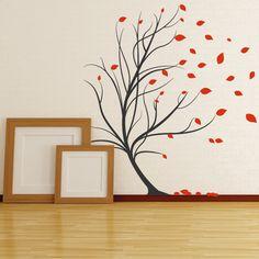 Stunning Wandtattoo Baum im Wind