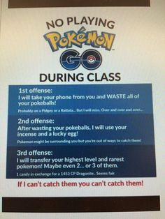 Rules are Rules #PokemonGo