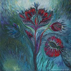 Title: The red poppy Size: 30 x 30 cm Materials: canvas on cardboard / oil Year: 2014 - '15