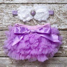 Baby Girl TuTu Bloomers Chiffon Ruffle Diaper by LolaBeanClothing, $18.95