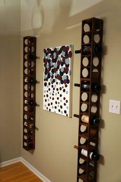 Vertical wine rack project