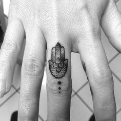 Pinterest: @MazLyons cute Hamsa finger tattoo #ink #girly #YouQueen #tattoos