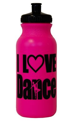 I Love Dance Silhouette Hot Pink Water Bottle * This is an Amazon Affiliate link. For more information, visit image link.