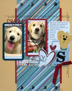 Dog Scrapbook Layouts, Baby Boy Scrapbook, Scrapbook Designs, Scrapbook Sketches, Travel Scrapbook, Scrapbook Cards, Scrapbooking Ideas, Dog Corner, Creative Memories