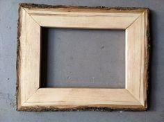 5x7 Wood Bark Frame Handmade from Hickory Wood by JonesFraming