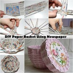 "DIY For the Day ""Paper Basket Using Newspaper..."" #teelieturner #DIY #teelieturnershoppingnetwork   www.teelieturner.com"