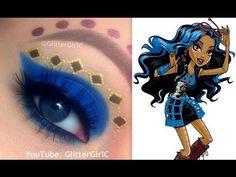 Monster High's Robecca Steam Makeup Tutorial. Youtube channel: full.sc/SK3bIA