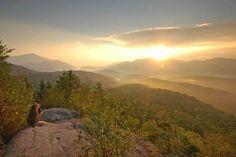Sunrise over the Adirondacks