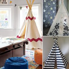 Inventive play spaces for little ones. Tent-tastic