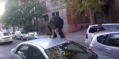 Un cas de rage au volant filmé à Montréal entre deux automobilistes