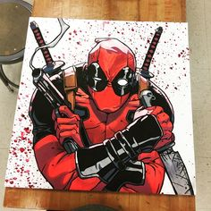 #mulpix Just finished this 2ft by 2ft Deadpool, loved working on this. If you have any ideas on what I should do next let me know, or if you are interested in purchasing this or any piece.  #art  #artwork  #artbotic  #art_boost  #arts_help  #artnerd2015  #artcollective  #Deadpool  #drawing  #posca  #painting  #pencils  #comic  #instartist  #streetart  #sketch  #fanart  #movie  #marker  #marvel  #nawden  #ryanreynolds  #phanasu  #marvelart