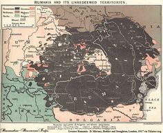 Greater Rumania Map - Romania Mare - D. Mitrany, Hodder and Stoughton, London, 1917 History Of Romania, Countries Europe, Semitic Languages, Dna Genealogy, Indian Language, Alternate History, History Facts, Archaeology, Maps