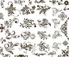 cnc world: Set of Vector Floral Design dxf