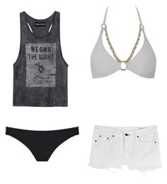"""""""Beach vibes"""" by you-are-pretty-amazing ❤ liked on Polyvore featuring rag & bone, Miss Selfridge and Agent Provocateur"""