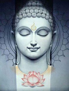 Buddha with lotus flower: Prune, Buddhism, Lotus, It Was, Inspiration . Art Buddha, Buddha Kunst, Buddha Painting, Buddha Zen, Buddha Lotus, Buddha Peace, Tattoo Buddhist, Buddhist Art, Amitabha Buddha