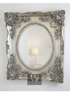 Orion Silver Ornate Oval Vintage Wall Mirror x X Large Silver Framed Mirror, Mirror Photo Frames, Wood Mirror, Framed Mirrors, Mirror Mirror, Vintage Mirrors, Sweet Home, Shabby Chic, Inspiration
