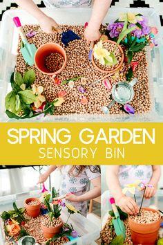 Spring Garden Sensory Bin | JessicaEtCetera.com | Lifestyle, Childhood & Photography Blog by Jessica Grant