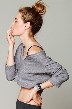 10 Stylish Activewear Picks: Solow Sport French Terry Cropped Pullover from Free People. #Stylish365
