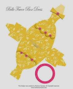Cute Free Printable Belle Party Favor Box.