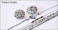 #PUK, #Mab, #Miranda , #Earrings, #necklace, #bracelet , #loom, #TrinketStudio, #Beading, #Swarovski, #peyot , #stitch #geometrical, Polandhandmade.pl , #Polandhandmade , #beadedbeads , #beaded, #beads