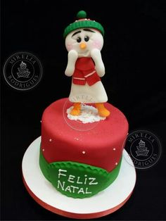 Mini bolo de Natal by Mirella Rodrigues