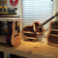 Reviving Acoustic Guitars into unique art & furniture by TerrysGuitarArt Guitar Tutorial, Guitar Art, Modular Homes, Art Furniture, Unique Art, Acoustic Guitars, Projects, Vintage, Etsy