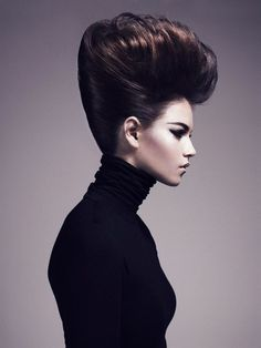 High updo with brown and auburn hair colors Creative Hairstyles, Party Hairstyles, 1920s Hairstyles, Beehive Hairstyles, Hairdos, Wedding Hairstyles, Avant Garde Hair, Editorial Hair, Beauty Editorial