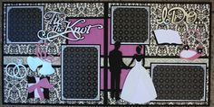 Complete Wedding Album Series - Tie the Knot 12x12 Double Scrapbook Layout |Faith Abigail Designs