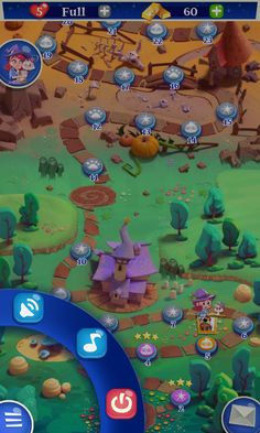Bubble Witch 2 by King - Map Pause Screen - Match 3 Game - iOS Game - Android Game - UI - Game Interface - Game HUD - Game Art