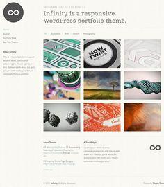 Infinity WordPress Theme from Theme Trust is a minimal portfolio WordPress Theme to display your work.