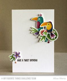 Birds of Paradise, Blissful Blooms, Birds of Paradise Die-namics, Blissful Blooms Die-namics - Alice Wertz  #mftstamps