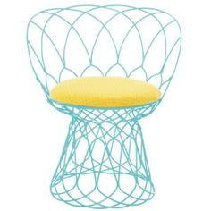 colourful wire chair.
