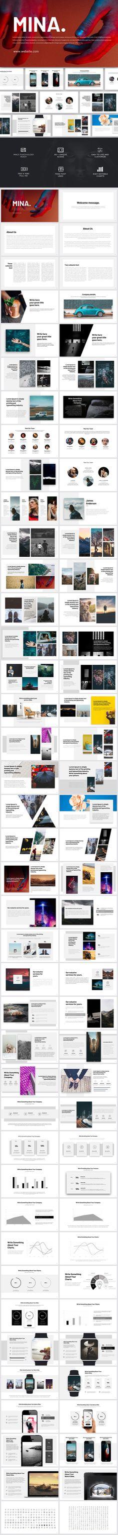 Mina Powerpoint Template - PowerPoint Templates Presentation Templates