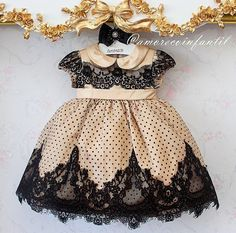 Little Girl's Dress Little Girls Fancy Dresses, Little Girl Dresses, Girls Dresses, Flower Girl Dresses, Baby Girl Fashion, Toddler Fashion, Kids Fashion, Toddler Dress, Baby Dress