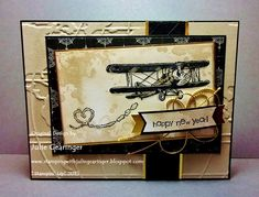 "Stamping with Julie Gearinger: Happy New Year! The Sky's the Limit :-) Original Version- Stampin' Up! ""The Sky's the Limit"" (SAB 2016 set) along with ""Going Places"" DSP and ""World Traveler"" EF :-) Stampin Up Karten, Stampin Up Cards, Birthday Cards For Men, Man Birthday, Stampinup, Fathers Day Cards, New Year Card, Masculine Cards, Homemade Cards"