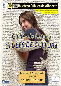 En la ciudad de Albacete existen más de 20 clubes de lectura de muy distinto tipo, en los que se habla de literatura, de libros, de historias, de autores, de vida... porque la lectura y la literatura no es más que eso, vida.    El 12 de junio convocamos a todos ellos y a todas las personas interesadas en la lectura, para intercambiar experiencias, para conocer qué se está haciendo en la ciudad de Albacete y qué se puede hacer en un próximo futuro. #clubesdelectura #actividadesbiblioteca