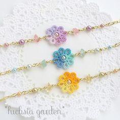 Tatting Bracelet, Tatting Jewelry, Tatting Lace, Crochet Bracelet, Bracelet Crafts, Crochet Wallet, Crochet Cord, Crochet Jewelry Patterns, Crochet Earrings Pattern